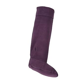 Ciruelo damas Fleece Rjm Wellie calcetines estilo - Sk205Cdu