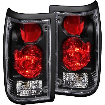 Anzo USA 211113 Mazda B2000 Black Tail Light Assembly - (Sold in Pairs)