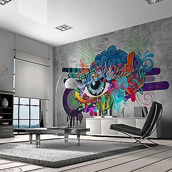 Fototapet - Graffiti eye