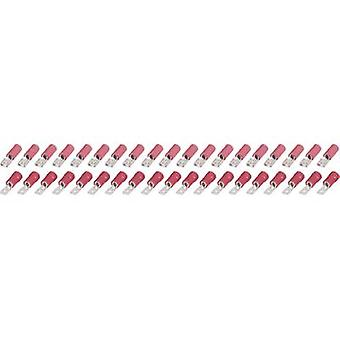 Flat plug & kvinnelige spade kontakter 4.8 mm 40pcs. KSP 4.8-1-0.5/FSP 4.8-1-0.5 0.25up til 1,5 mm² antall pinner = 1