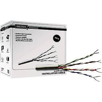 Network cable CAT 5e U/UTP 4 x 2 x 0.20 mm² Grey