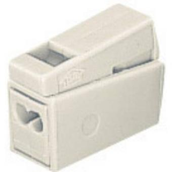 WAGO 224-112 Lamp terminal flexibele: 0.5-2.5 mm² rigide: 1-2.5 mm² aantal pins: 3 1 PC('s) wit