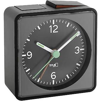 TFA 60.1013.01 Quartz Alarm clock Black Alarm times 1 Fluorescent Hands