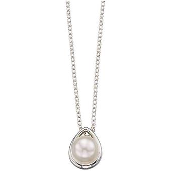 Beginnings Shell Pearl Slider Necklace - White/Silver