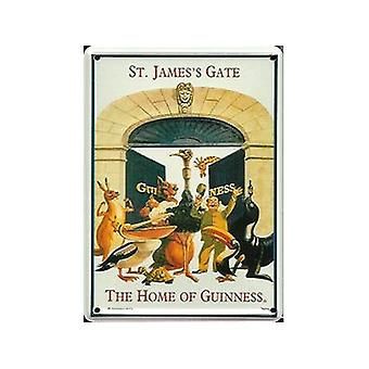 Guinness St James Gate (Animals) Metal Postcard / Mini Sign