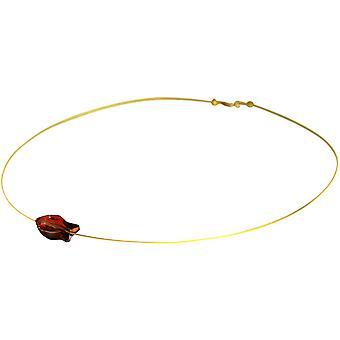 Gemshine - Damen - Halskette - Anhänger - Fisch - *Red Magma* - Rot - Vergoldet - MADE WITH SWAROVSKI ELEMENTS® - 45 cm