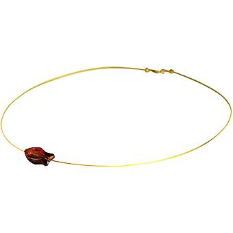 Gemshine - dames - Collier - pendentif - poisson - * magma rouge * - rouge - doré - MADE WITH SWAROVSKI ELEMENTS® - 45 cm