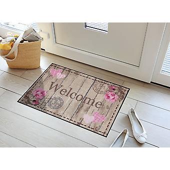 Välkommen rosor salong Loewe tvättbara golv matta blomma dörrmatta