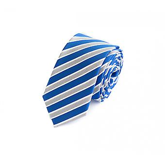 Schlips Krawatte Krawatten Binder 6cm blau weiß grau gestreift Fabio Farini