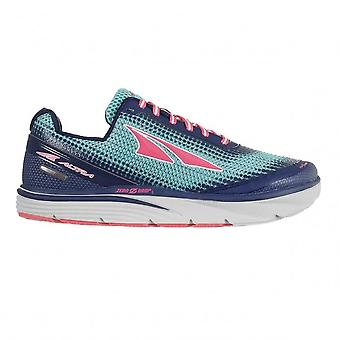 Torin 3.0 Womens Zero Drop Road Running Shoes Blue/Coral