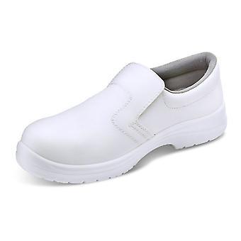 Click Micro Fibre Slip On Safety Shoe. White. S2 - Cf832