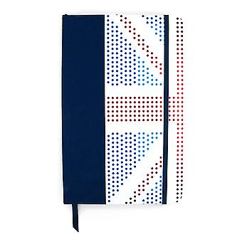 Red White and Blue London Medium Hardcover Notebook