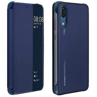 Officiella Huawei Smart View flip case för Huawei P20 - mörkblå