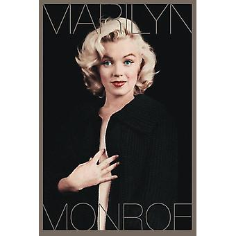 Noir affiche Marilyn Monroe & or
