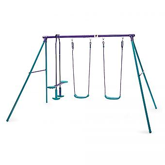 Plum Jupiter Metal Swing Set