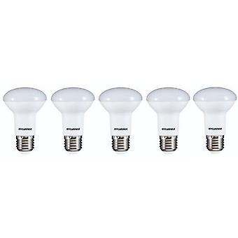 5 x Sylvania RefLED R63 V2 E27 7W varm hvit LED 630lm [energi klasse A +]