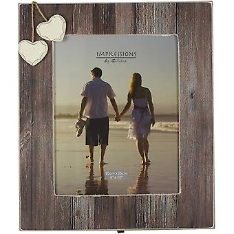 Juliana Home Living Hearts Distressed Wood Photo Frame 8x10 - Brown
