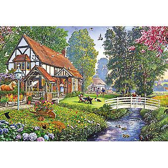 Gibsons Deckchair Dreaming Jigsaw Puzzle (500 pieces)