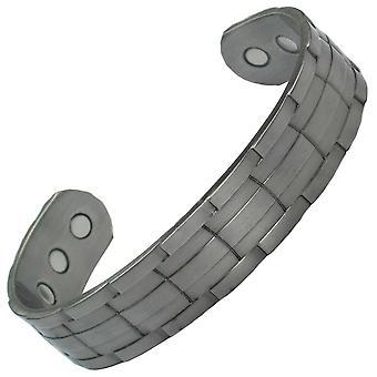 MPS® NORAD Gun Metal brazalete magnético con 6 imanes + bolsa de regalo de lujo gratis