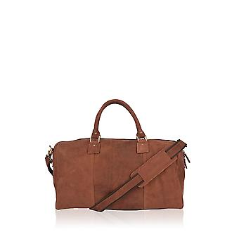 Discoverer Medium Leather Holdall in Brown