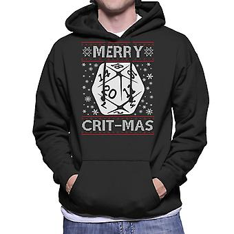 Dungeons And Dragons Merry Critmas Christmas Knit Pattern Men's Hooded Sweatshirt
