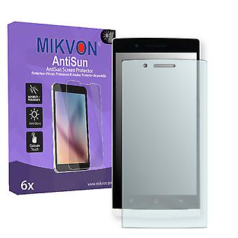 OPPO Find 5 X909 Screen Protector - Mikvon AntiSun (Retail Package with accessories)