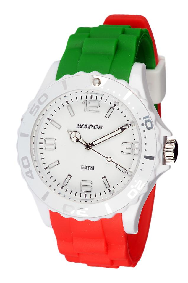 Waooh - In Italy Flag Silicone Watch Tricolore MC42