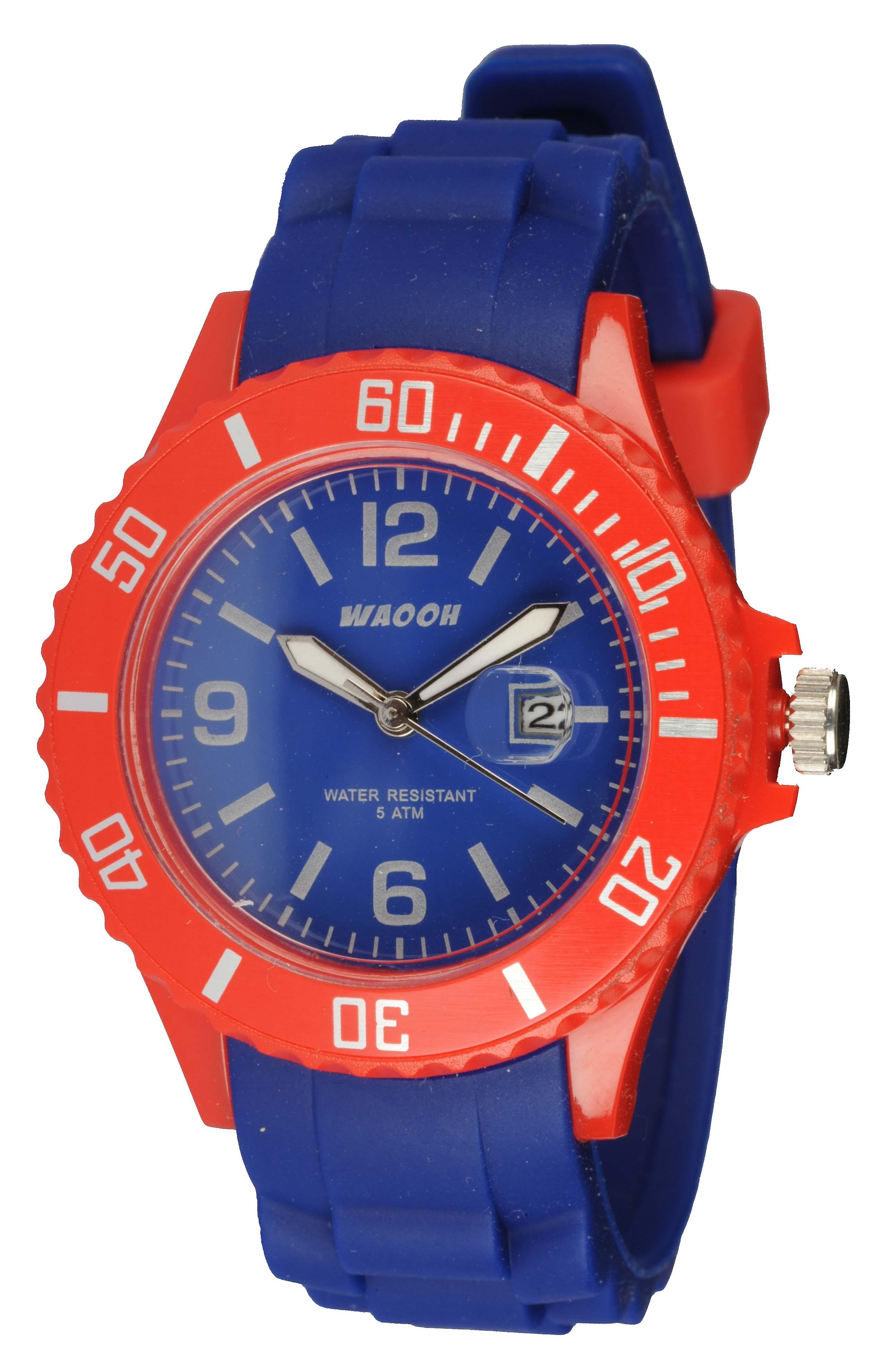 Waooh - Watch Monaco34 - Bi-color & rot