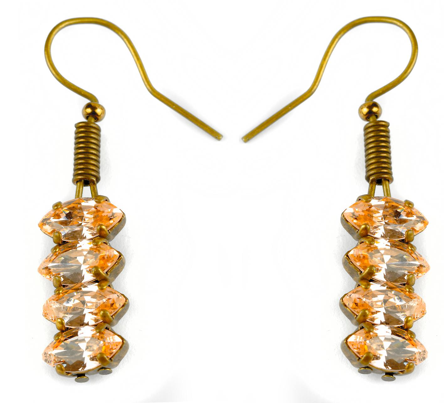 Waooh - Jewelry - WJ0720 - earrings Swarovski Strass transparent - mount colour gold