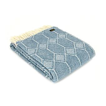 Tweedmill Pure nowe wełny Churchpane Throw - benzyna