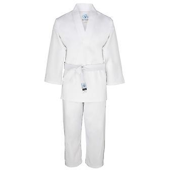 Bytomic volwassen witte v-hals Uniform