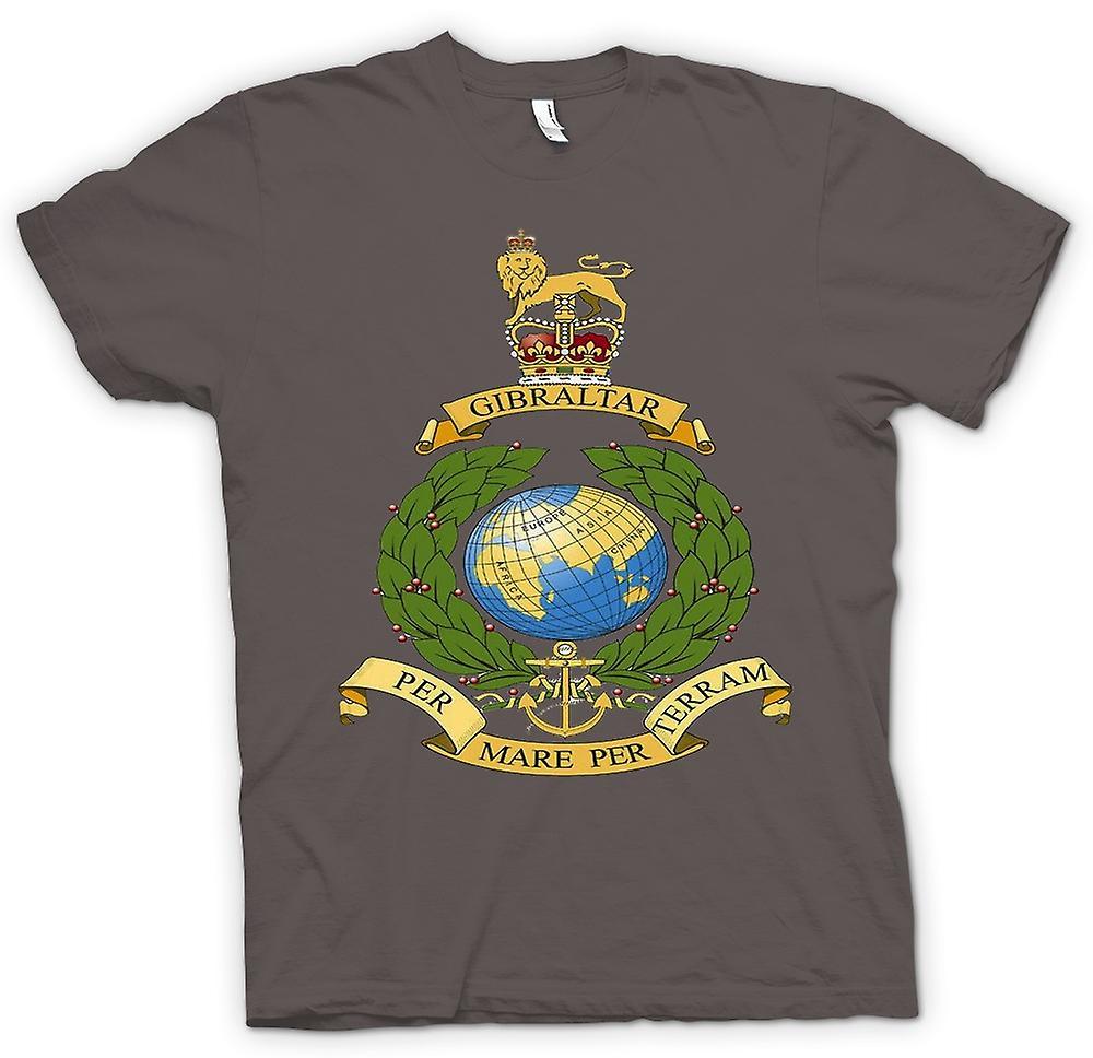 Womens T-shirt - Royal Marine Logo - Per Mare Per Terram