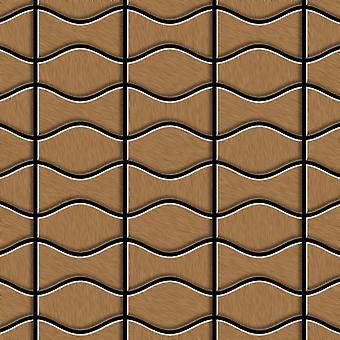 Metal mosaic Titanium ALLOY Kismet-Karma-Ti-AB