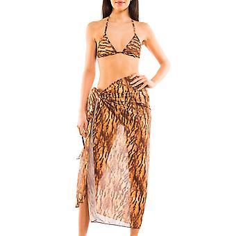 Kiniki Sara Tan via strand Sarong Womens badmode