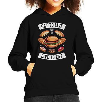 Eat To Live Food Kid's Hooded Sweatshirt