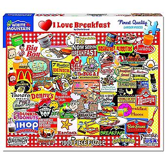 I Love Breakfast Collage 1000 piece jigsaw puzzle 750mm x 600mm (wmp)
