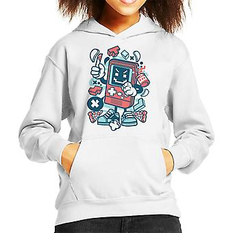 Bad Gamer Cartoon Character Kid's Hooded Sweatshirt