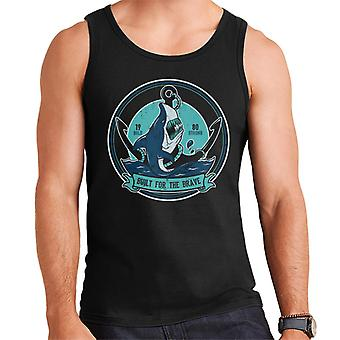 Built For The Brave Shark Badge Men's Vest