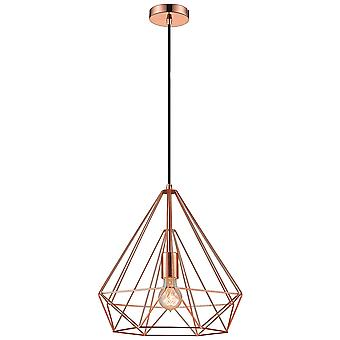 Spring Lighting - Telford Small Copper Cage Pendant  NFSU038DQ1QFOE