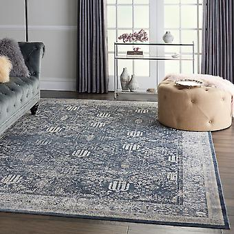 Malta MAI12 Navy Ivory  Rectangle Rugs Traditional Rugs