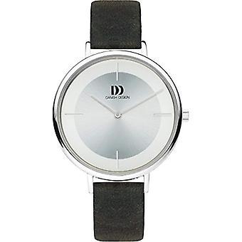 Reloj analógico de diseño danés cuarzo mujer con correa de cuero negro IV12Q1185