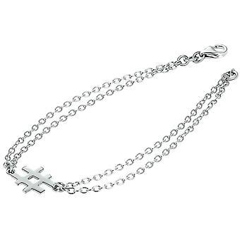 Bella Hashtag Bracelet - Silver