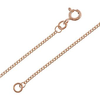 The Olivia Collection Sterling Silver Rose-Goldtone Curb Chain Necklace 20