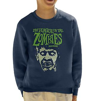 Hammer The Plague Of The Zombies Face Poster Kid's Sweatshirt
