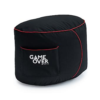 GAME OVER Electric Crimson (Red) Bean Bag Gaming Footstool Pouffe