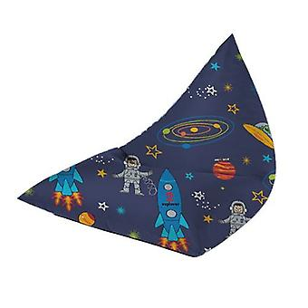 Children's Pyramid Shaped Bean Bag Lounger - Space Boy