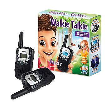 Buki Walkie Talkie With 3km Range, 8 Channels,10 Tone Call Mode, Built in Torch