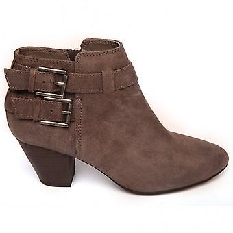 Ash Footwear Jason Mid-Heel Leather Ankle Boot