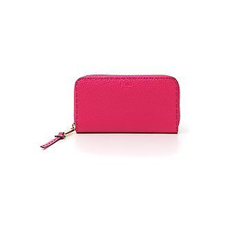 Fendi Fuchsia Leather Wallet