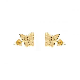 Eternity 9ct Gold Butterfly Stud Boucles d'oreilles